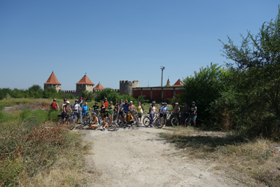 On bikes to Bender Fortress