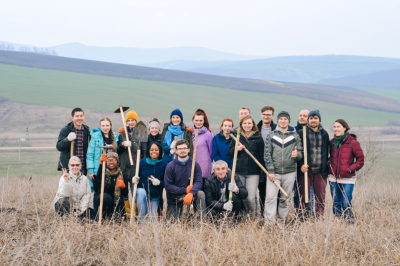 Seed It Forward hazelnut planting March 2016